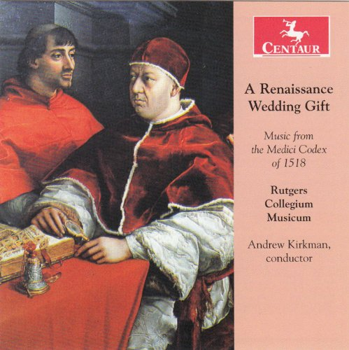 A Renaissance Wedding Gift - Rutgers Collegium Musicum - Musik - CENTAUR - 0044747323022 - October 15, 2012