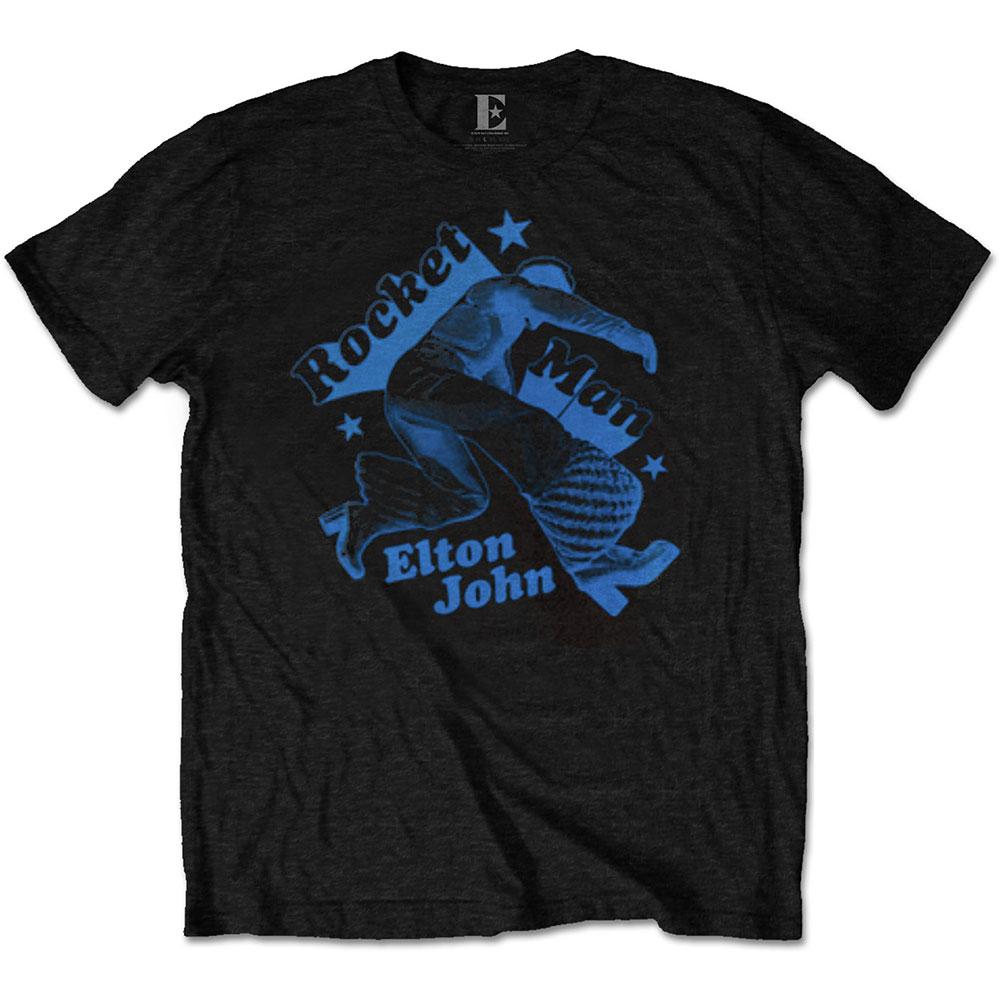 Elton John Unisex T-Shirt: Rocketman Jump - Elton John - Merchandise -  - 5056170684026 -