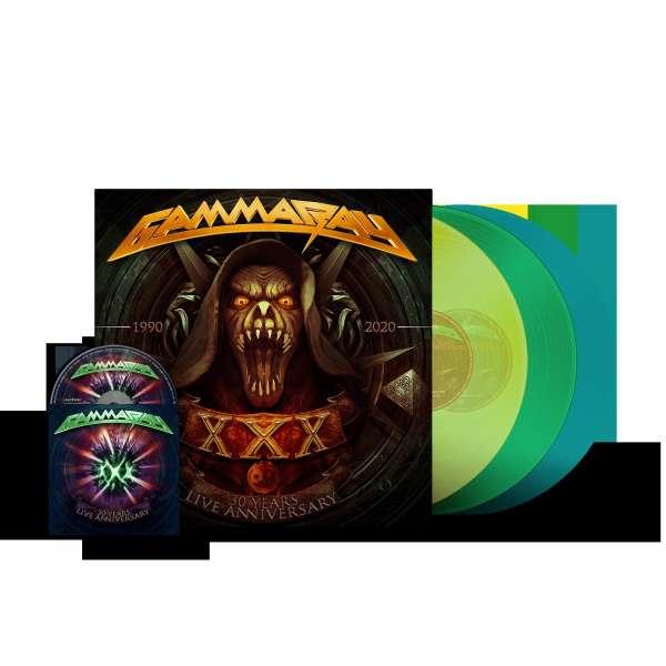 30 Years Live (Ltd Ed Color+bluray) - Gamma Ray - Musik -  - 4029759170044 - September 10, 2021
