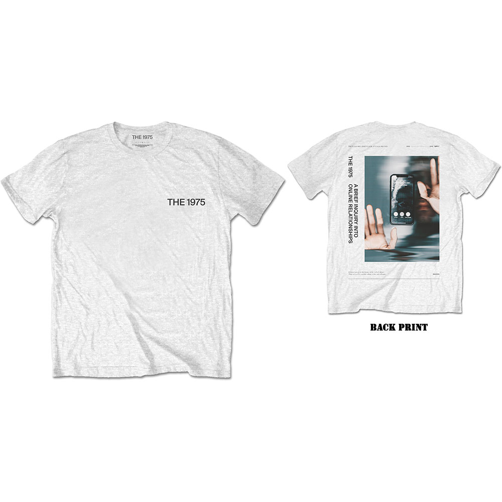 The 1975 Unisex T-Shirt: ABIIOR Side Face Time (Back Print) - 1975 - The - Merchandise -  - 5056170684071 -