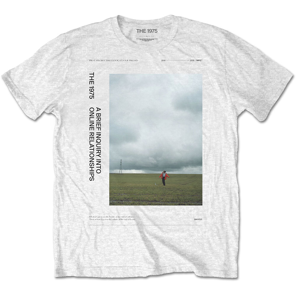 The 1975 Unisex T-Shirt: ABIIOR Side Fields - 1975 - The - Merchandise -  - 5056170684125 -