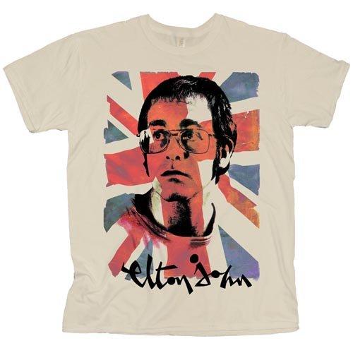Elton John Unisex T-Shirt: Union Jack - Elton John - Merchandise - Global - Apparel - 5055295365209 -