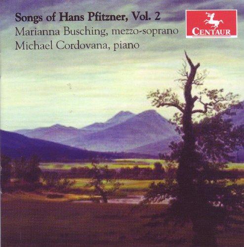 Songs of Hans Pfitzner 2 - Pfitzner / Busching / Codovana - Musik - CENTAUR - 0044747299525 - 27. oktober 2009
