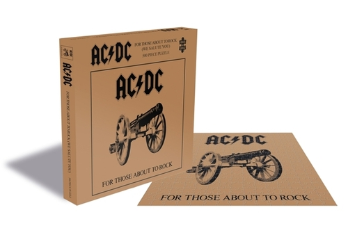 AC/DC For Those About To Rock (500 Piece Jigsaw Puzzle) - AC/DC - Brætspil - ZEE COMPANY - 0803343257526 - September 4, 2020