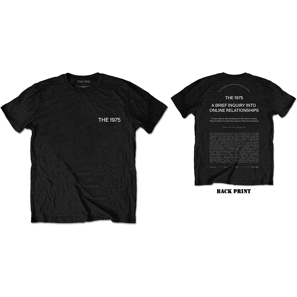 The 1975 Unisex T-Shirt: ABIIOR Welcome Welcome (Back Print) - The 1975 - Merchandise -  - 5056170682633 -