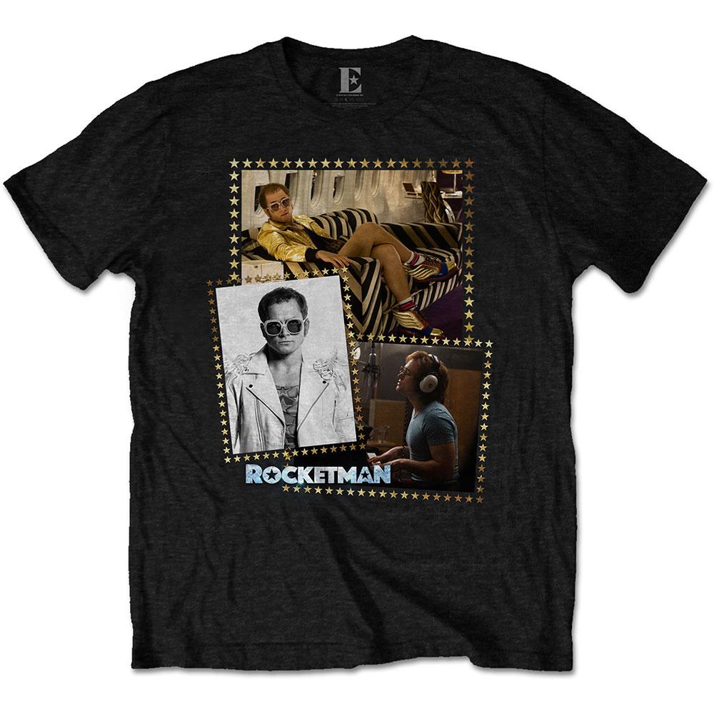 Elton John Unisex T-Shirt: Rocketman Montage - Elton John - Merchandise -  - 5056170683678 -