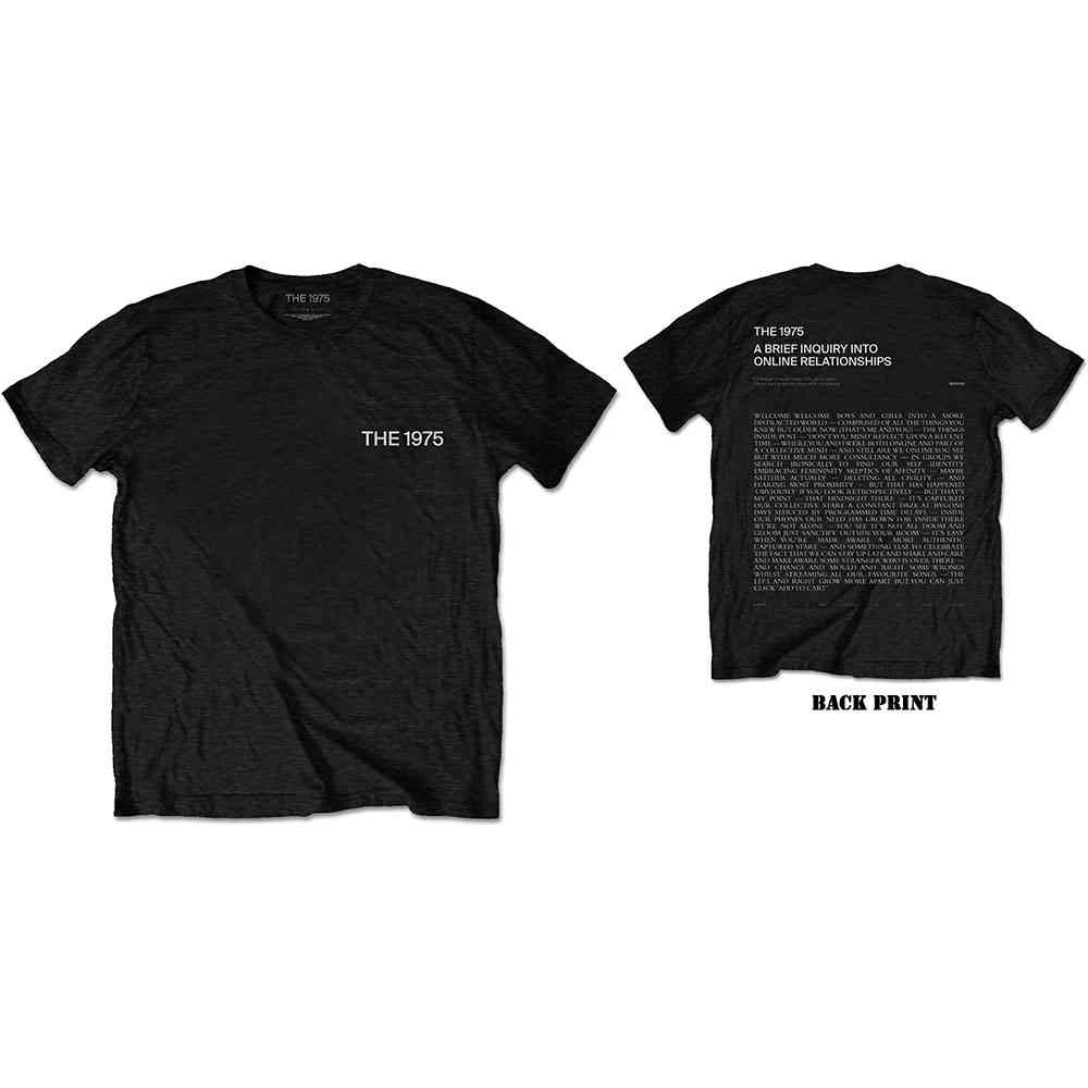 The 1975 Unisex T-Shirt: ABIIOR Welcome Welcome Version 2. (Back Print) - 1975 - The - Merchandise -  - 5056170682732 -