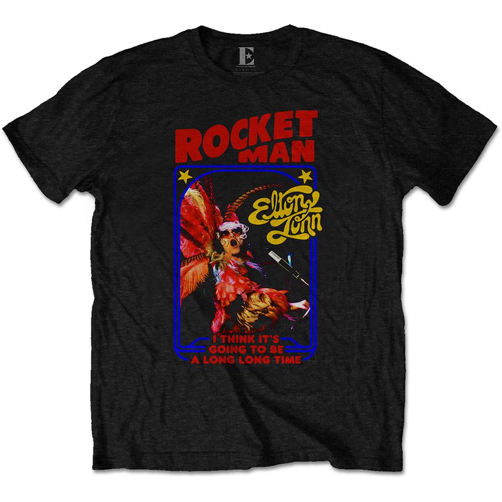 Elton John Unisex T-Shirt: Rocketman Feather Suit - Elton John - Merchandise - MERCHANDISE - 5056170683777 - January 10, 2020