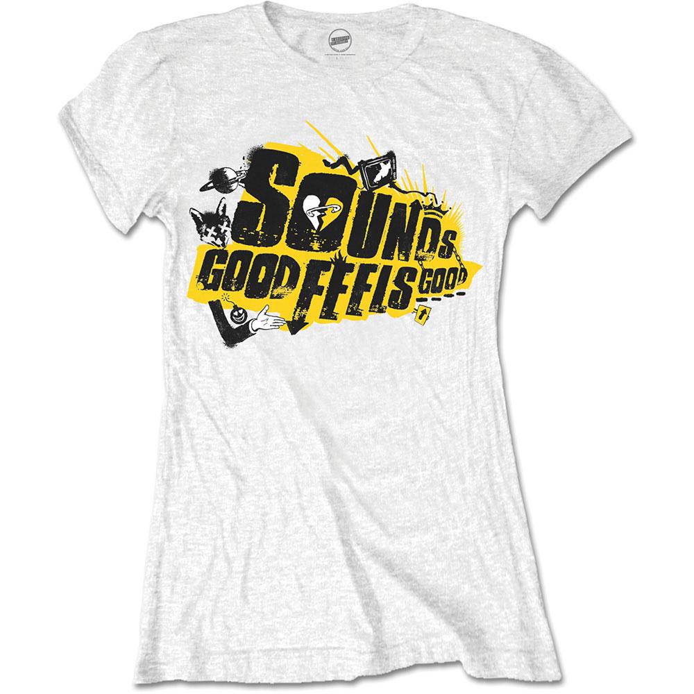 5 Seconds of Summer Ladies T-Shirt: Sounds Good Album (Skinny Fit) - 5 Seconds of Summer - Merchandise - Bravado - 5055979916819 -