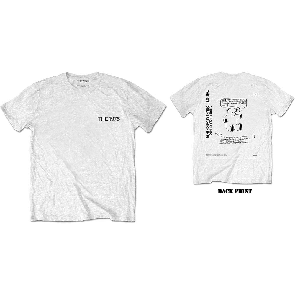 The 1975 Unisex T-Shirt: ABIIOR Teddy (Back Print) - 1975 - The - Merchandise -  - 5056170682831 -