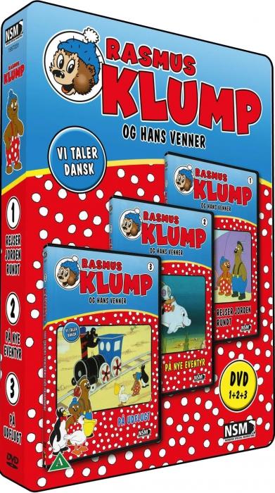 Rasmus Klump og Hans Venner: Boks 1 (3-disc) - DVD /movies /standard / DVD - Rasmus Klump - Film -  - 5708758687010 - April 1, 2011