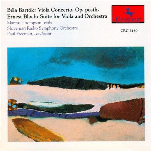 Viola Concerto / Bloch: Suite - Bartok / Thompson / Slovenian Rso / Freeman - Musik - Centaur - 0044747215020 - 1/9-1993