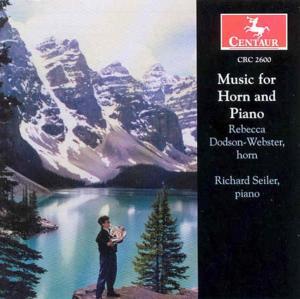 Music for Horn & Piano - Seiler, Richard / Rebecca D - Musik - CENTAUR - 0044747260020 - 11/2-2003