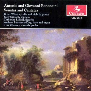 Sonatas & Cantatas - Bononcini,antonio & Giovanni / Colombi / Wissick - Musik - Centaur - 0044747263021 - 29/7-2003