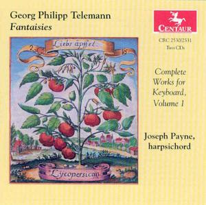 Complete Works for Keyboard 1 - Telemann / Payne - Musik - CENTAUR - 0044747253022 - 24/7-2001