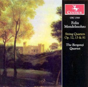String Quartets Op.12,13 - F. Mendelssohn-bartholdy - Musik - CENTAUR - 0044747256023 - 17/4-2003