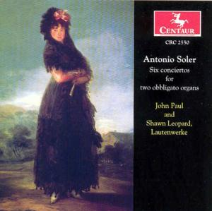 Six Concertos for 2 Obbligato - A. Soler - Musik - CENTAUR - 0044747255026 - 21/11-2002