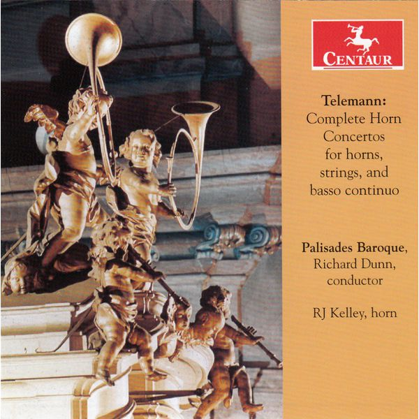 Complete Horn Concertos, for Horns, Strings & Basso Continuo - G.p. Telemann - Musik - CENTAUR - 0044747338026 - 4/3-2015