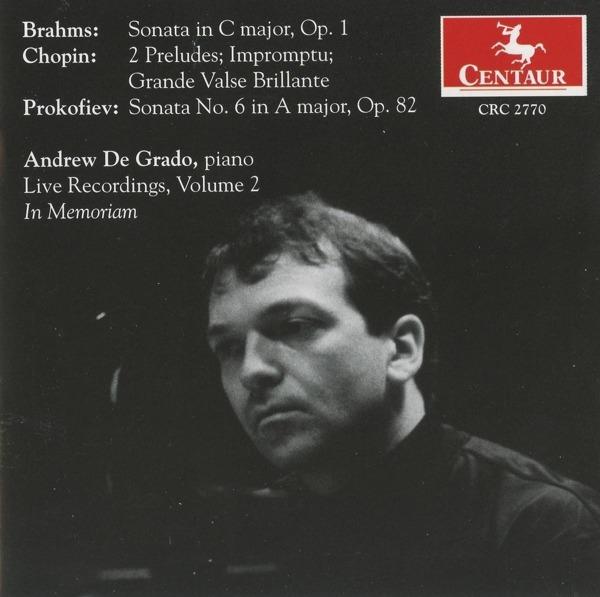 Andrew De Grado - Andrew De Grado - Musik - CENTAUR - 0044747277028 - March 21, 2012