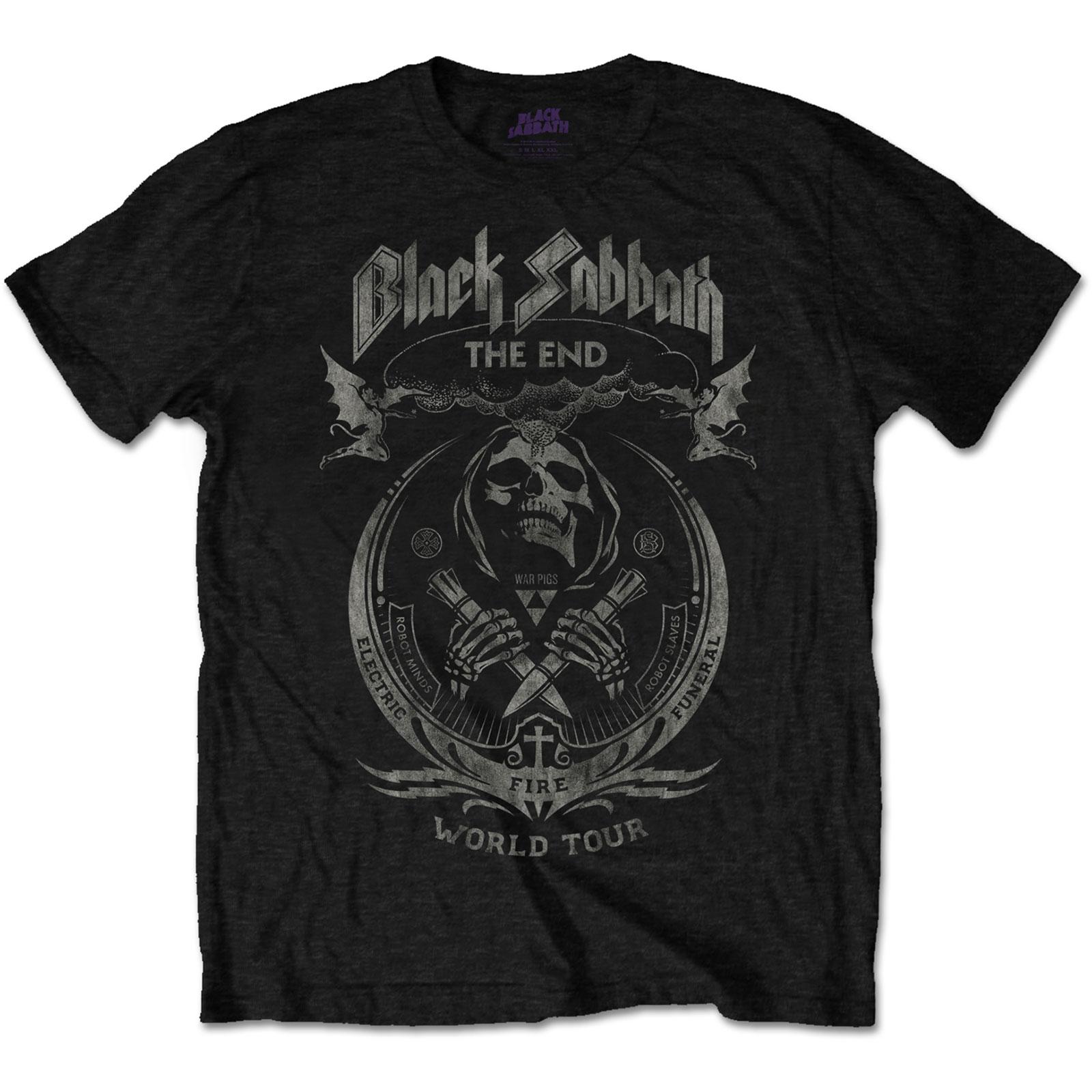 Black Sabbath Unisex Tee: The End Mushroom Cloud (Distressed) - Black Sabbath - Merchandise - MERCHANDISE - 5055979988090 -