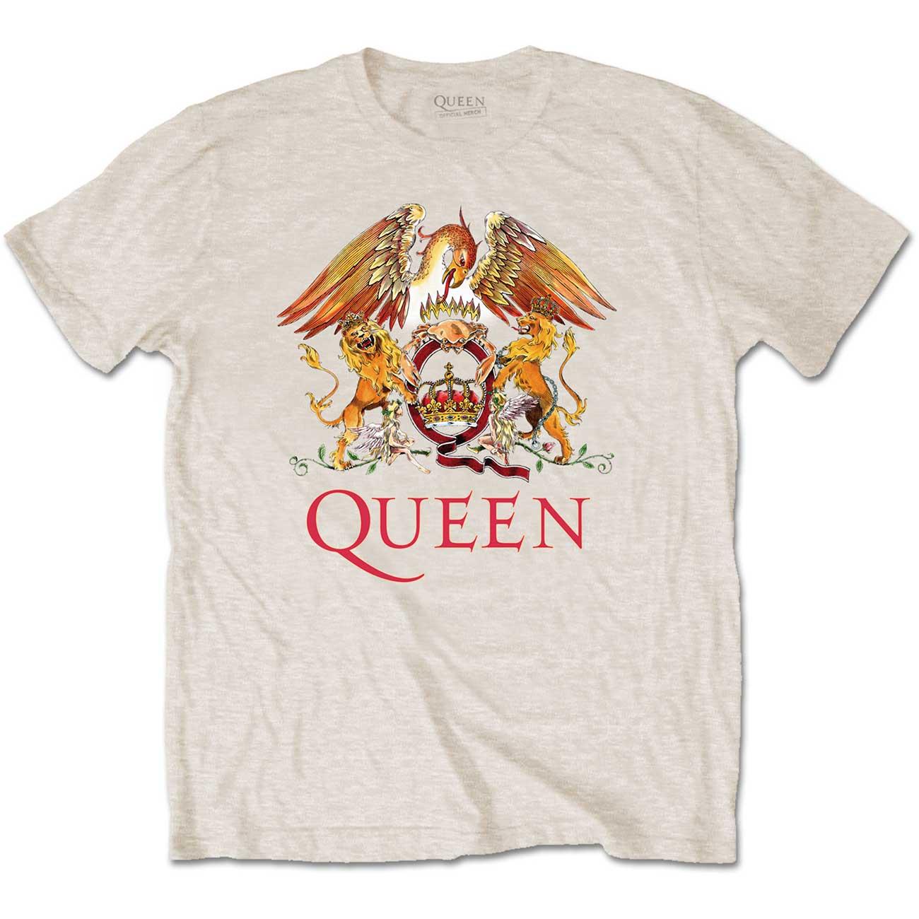 Queen Unisex Tee: Classic Crest - Queen - Merchandise -  - 5056170648103 -