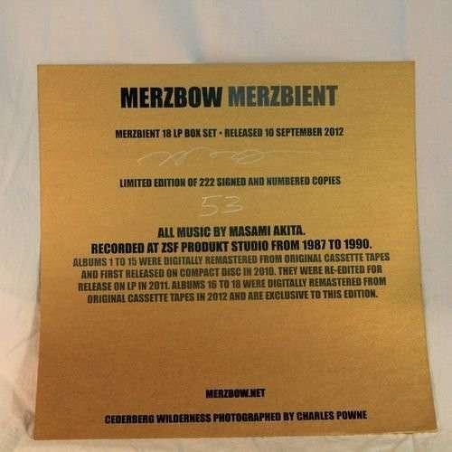 Merzbient - Merzbow - Musik - Soleilmoon - 0753907787115 - May 22, 2012