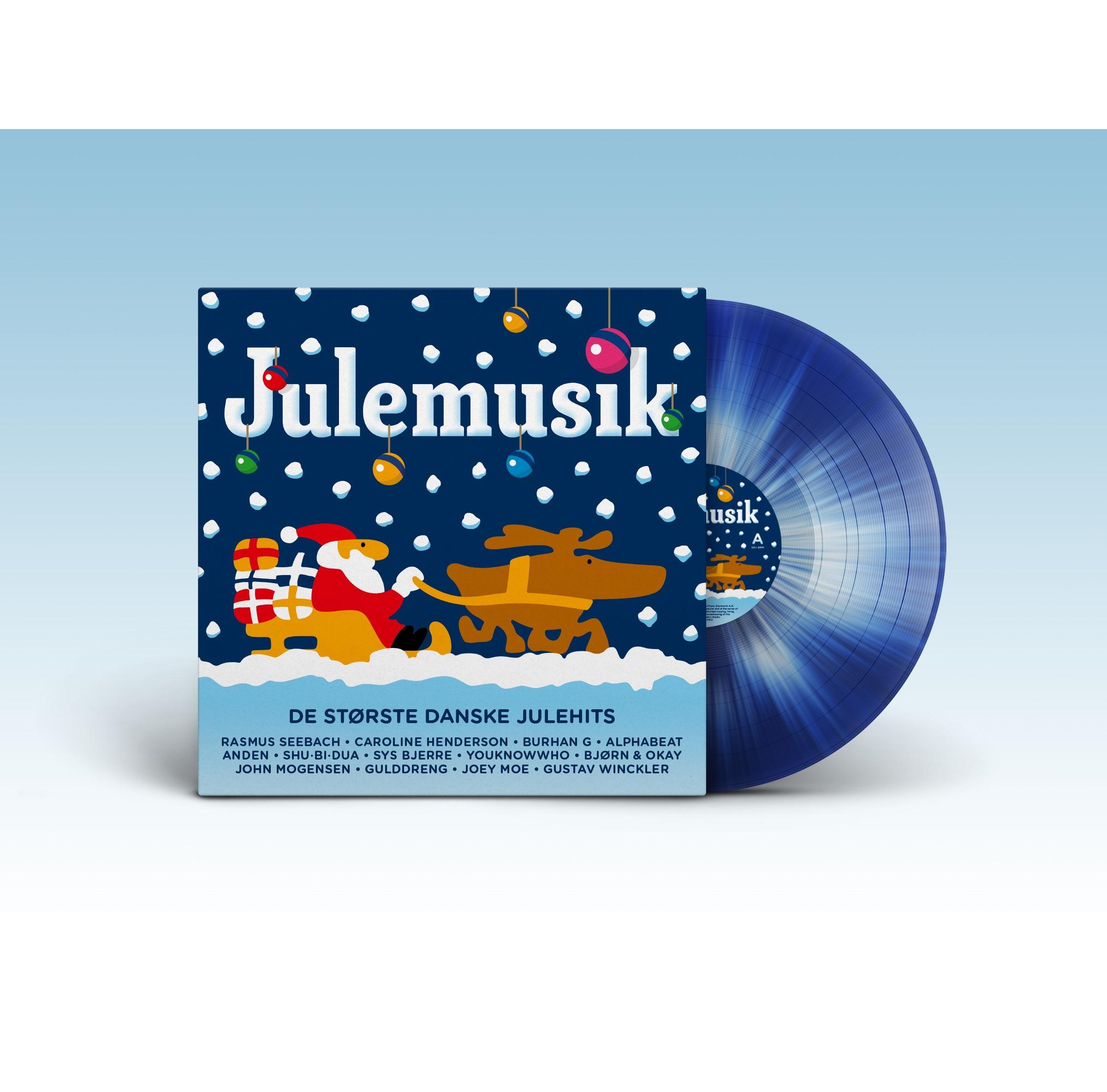 Julemusik 2019 (Blå-hvid Vinyl) - V/A - Musik -  - 0602508276125 - 8. november 2019