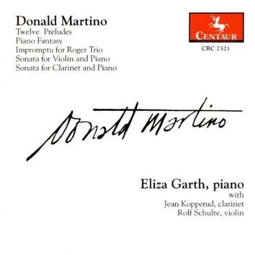 Solo Piano & Chamber Works - Martino / Garth / Koppetud / Schulte - Musik - Centaur - 0044747232126 - 12/8-2000
