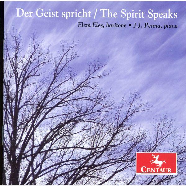 Der Geis Spricht / Spirit Speaks - Schubert / Eley / Penna - Musik - Centaur - 0044747328126 - 29/10-2013