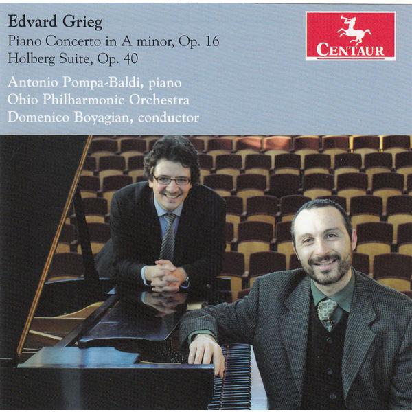 Piano Concerto Op.16/holberg Suite Op.40 - E. Grieg - Musik - CENTAUR - 0044747331126 - 21/1-2014