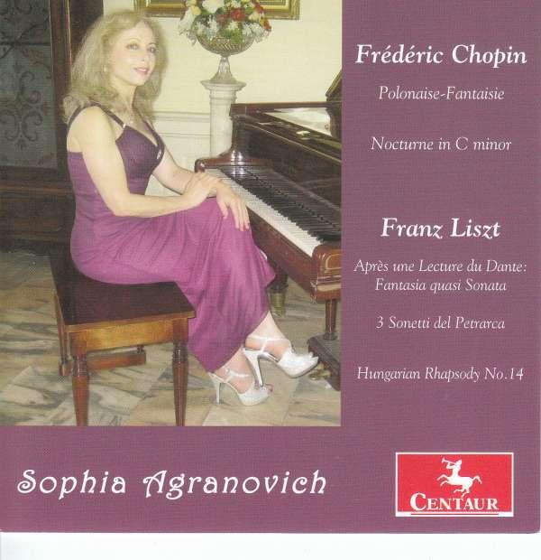 Piano Works - Sophia Agranovich - Musik - CENTAUR - 0044747360126 - April 6, 2018