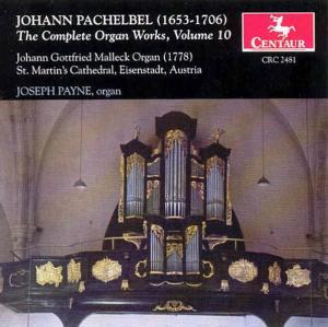 Complete Organ Works 10 - J. Pachelbel - Musik - CENTAUR - 0044747248127 - 14/12-2000