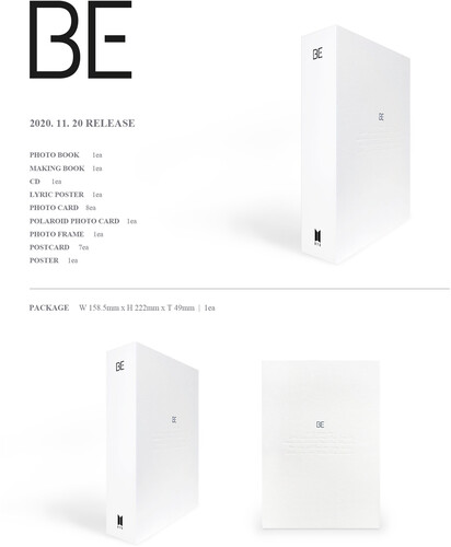 BE (DELUXE EDITION) - LIMITED - BTS - Musik - Big Hit Entertainment - 8809633189159 - 23/11-2020