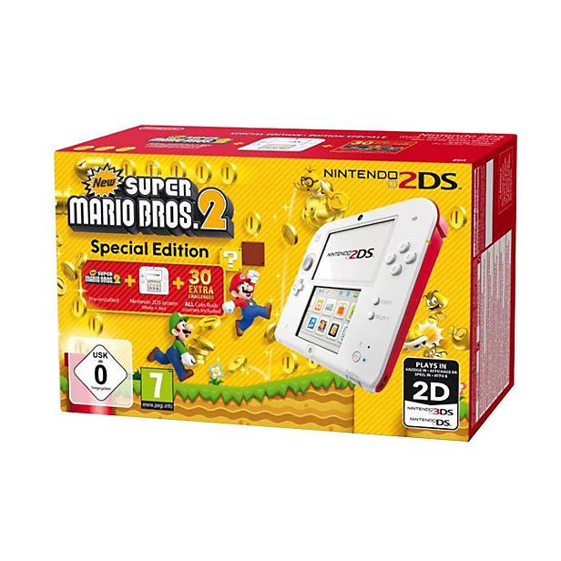 Nintendo 2DS White + Red (2203832) -  - Bøger -  - 0045496502164 -