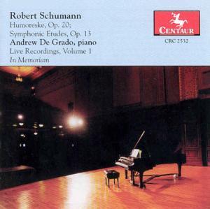 Humoreske Op.20 - R. Schumann - Musik - CENTAUR - 0044747253220 - 1/7-2002