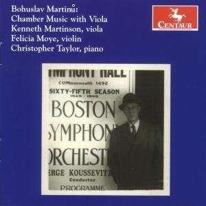 Chamber Music with Viola - Martinu / Martinson / Moye / Taylor - Musik - CENTAUR - 0044747285221 - July 29, 2008