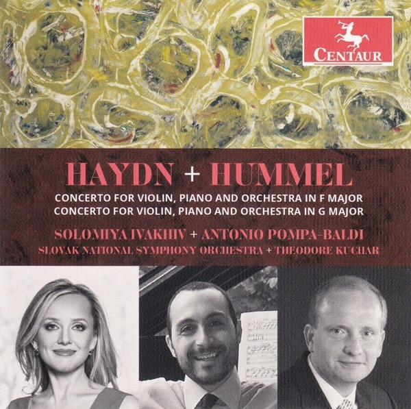 Haydn and Hummel Concertos for Violin, Piano & Orchestr - Solomiya Ivakhiv - Musik - CENTAUR - 0044747374222 - 2/10-2020