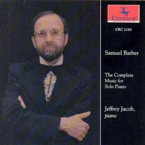 Music for Solo Piano - Barber / Jacob,scott - Musik - CENTA - 0044747216225 - 17/3-1995