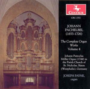 Complete Organ Works - J. Pachelbel - Musik - CENTAUR - 0044747235226 - 2004