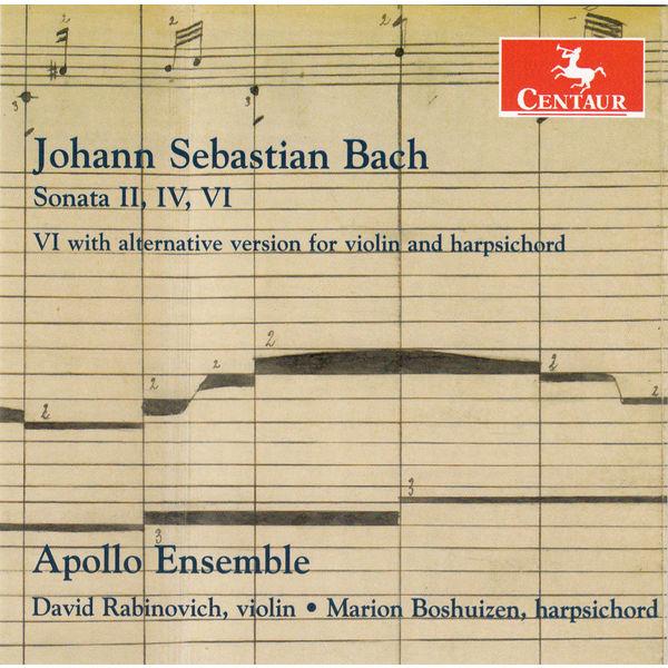 Sonatas for Violin & Harpsichord - J.s. Bach - Musik - CENTAUR - 0044747337227 - 24/10-2014