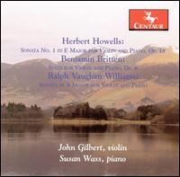 Sonata 1 for Violin & Piano Op 18 - Howells / Britten / Williams / Gilbert / Wass - Musik - Centaur - 0044747292229 - 24/6-2008