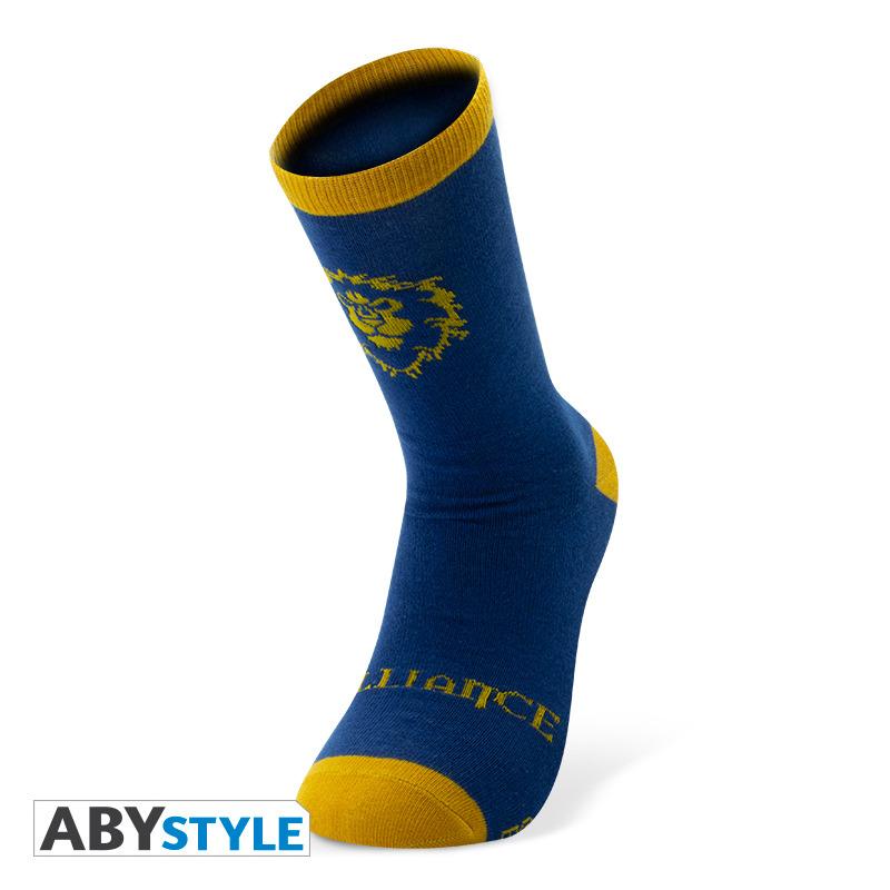 World of Warcraft Alliance Socks BlueYellow Merchandise -  - Merchandise -  - 3665361021254 -