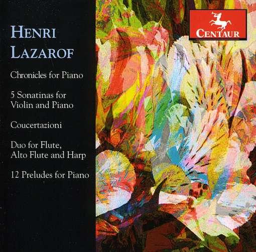 Henri Lazarof - Lazarof / Ohlsson / Edinger / Hellwig / Beaufills - Musik - Centaur - 0044747313320 - July 26, 2011