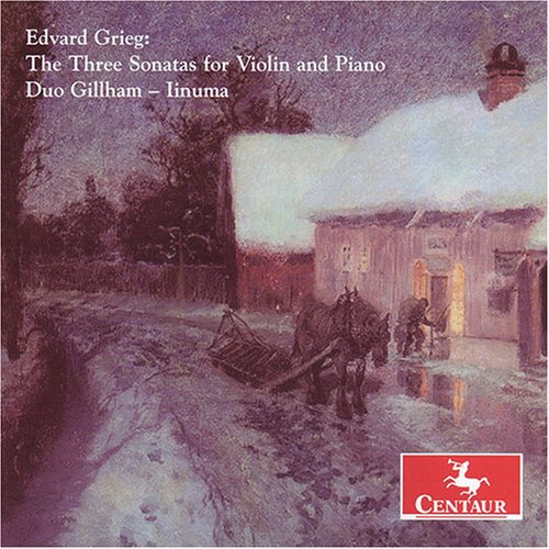 Three Sonatas for Violin & Piano - Grieg / Duo Gillham / Linuma - Musik - Centaur - 0044747287324 - 29/1-2008