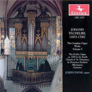 Complete Organ Works - Pachelbel. J. - Musik - CENTAUR - 0044747235325 - 16/3-1999