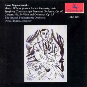 Symphony Concertante for Piano & Orchestra - K. Szymanowski - Musik - CENTAUR - 0044747215327 - 7/7-2017