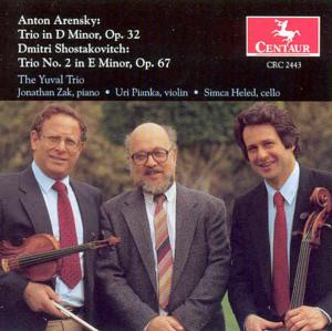 Trio D Minor Op.32 - Arensky / Shostakovich - Musik - CENTAUR - 0044747244327 - 27/11-2000