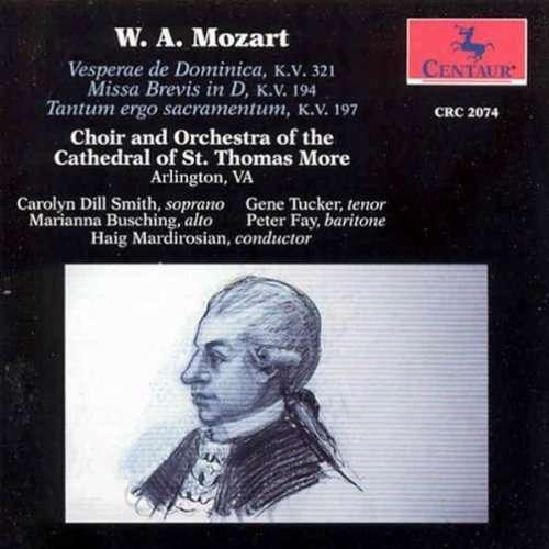 Vespers / Missa Brevis - Mozart / St. Thomas More Cathedral / Madrirosian - Musik - CENTA - 0044747207421 - 4/11-1993