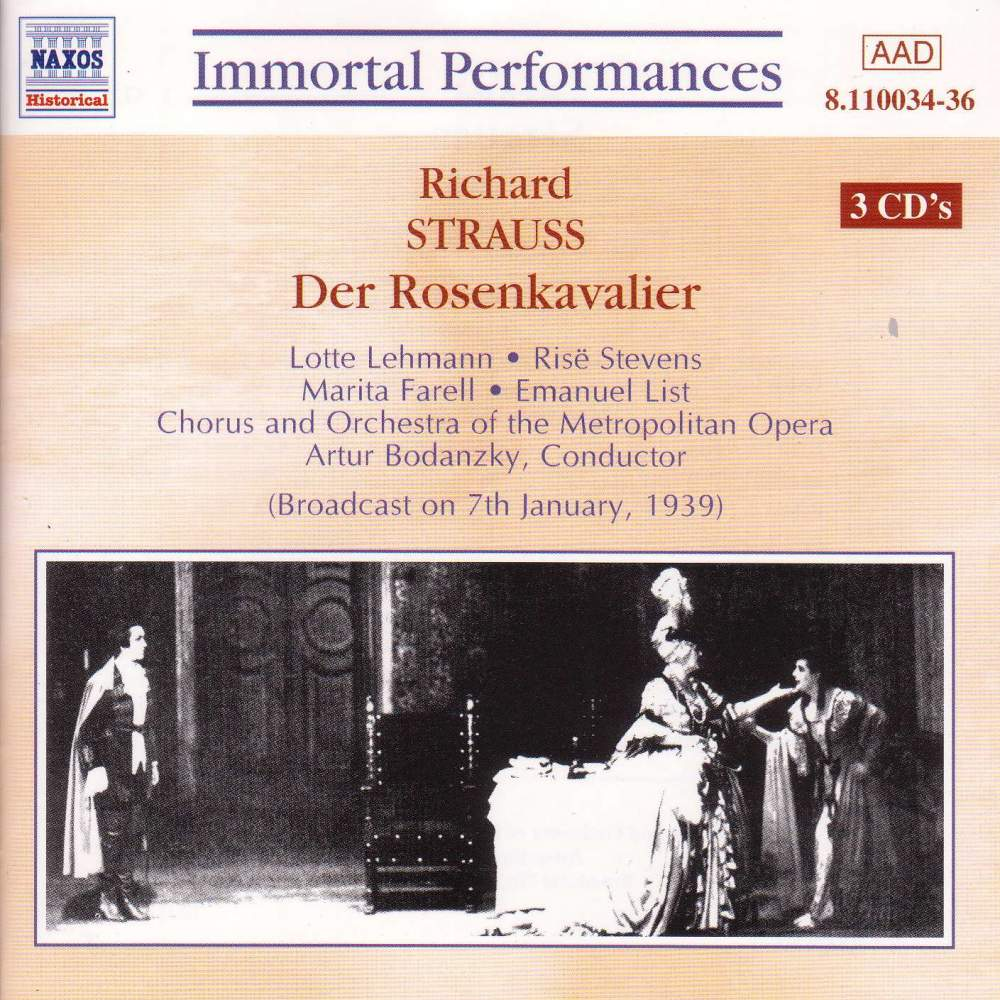 Richard Strauss - Der Rosenkavalier - Ny Met O - Musik - NAXOS - 0636943103425 - March 25, 1999