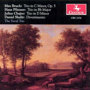 Trios - Bruch / Pfitzner / Chajes / Yuval Trio / Heled - Musik - CENTAUR - 0044747237428 - 12/8-2000